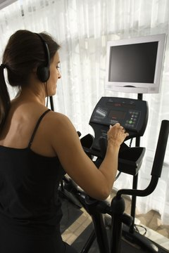 Challenge yourself with an interval workout on the elliptical machine.