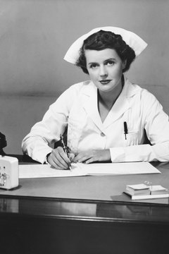 In the 1960s, a white uniform and cap symbolized a nurse.