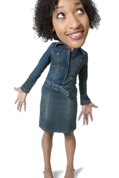 photo caricature of an african american teenage woman as she strikes a fun pose