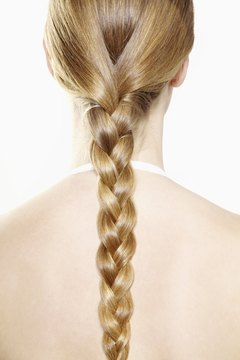 Donated hair should be in a braid or ponytail.