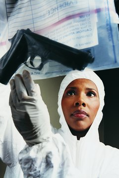 Forensic technicians identify and analyze weapons used to commit crimes.