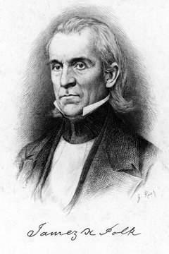 President Polk asked Congress to declare war on Mexico in 1846.
