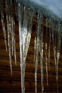 Ice forms when water reaches its freezing point.