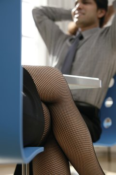 Fishnets are sexy, but not always appropriate for the workplace.