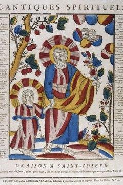 This Renaissance style image shows St. Joseph.