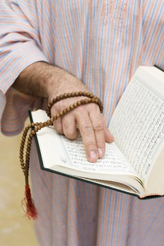 Islamic prayer beads help Muslims count and recite the 99 attributes of God.