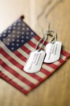 Flags can play an important ceremonial role during a veteran's funeral.