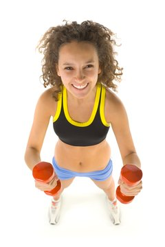 Dumbbells are an excellent way to tone your body at the gym.