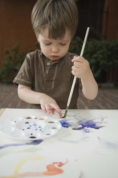 If you find your little one painting your furniture, foam crafts can be a less messy option.