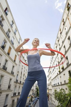 There is an array of exercises you can do with a hula hoop.