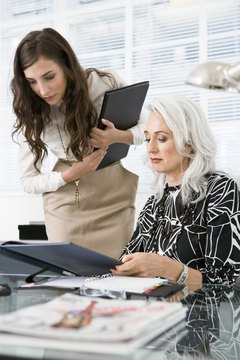 Administrative assistants use clerical and communication skills to improve office function.