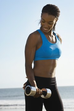 Weightlifting helps increase muscle definition.