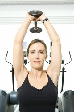 You can allow one end of the dumbbell to rest in both hands, or grip both ends with each hand.