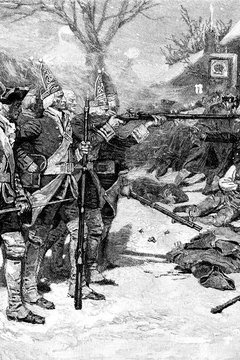 A street fight between Boston Colonists and British soldiers escalated into the Boston Massacre.