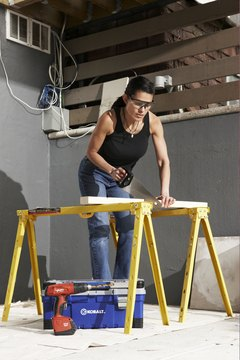Journeymen carpenters know how to use sawhorses to ease construction.