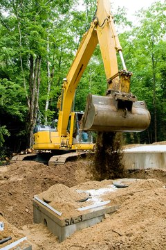 Managing waste water, especially for homes with a septic tank like this one, is important for eco-friendly building.