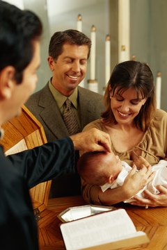 A baptism tip may be larger than the recommended amount if the parents are very active in their church.