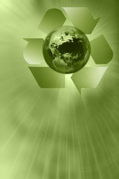 Recycle symbol and planet Earth