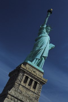 Lady Liberty welcomes immigrants