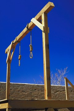 The witch hunts of Puritanism often ended in hanging of accused witches.