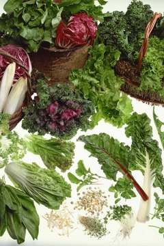 Leafy greens, including collard greens and kale, are rich in vitamins C, A and K.