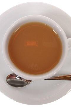 Cup Of Tea In Teacup With Teaspoon