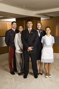 Smiling hotel staff