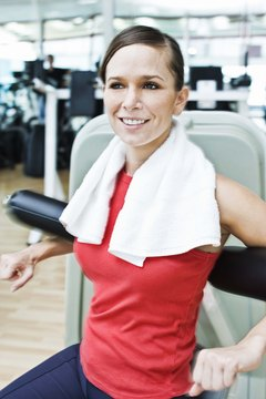 Weight machines can help beginners get started with strength training.