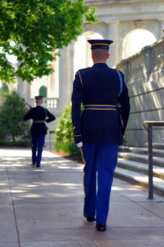The Tomb of the Unknown Soldier has a round-the-clock honor guard.