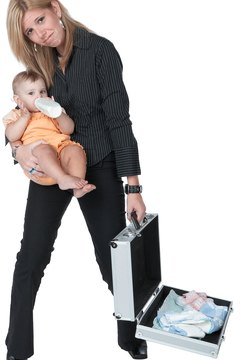 Onsite childcare allows working moms to balance career and baby.