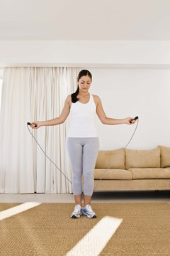 Jumping rope burns a lot of calories.
