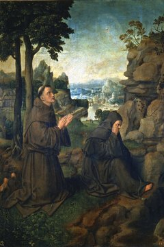 Catholics often ask saints such as St. Francis to pray for them.