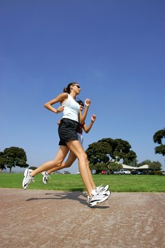 Running with your hands free is the safest approach.