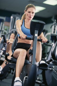 Stationary bikes burn approximately 400 calories per hour.