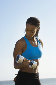 Grab a pair of dumbbells and start losing weight.