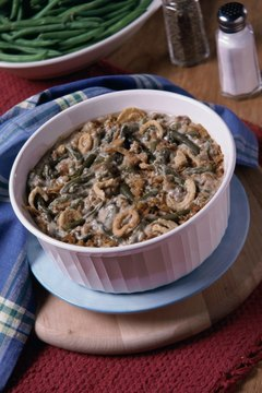 Bean casseroles were often served at large gatherings during the Depression.