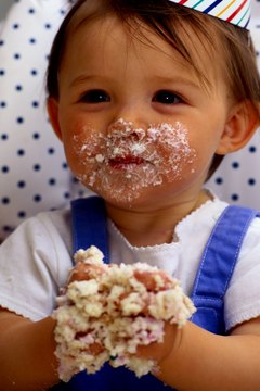 """For some, a baby's first birthday party may include a """"smash cake."""""""