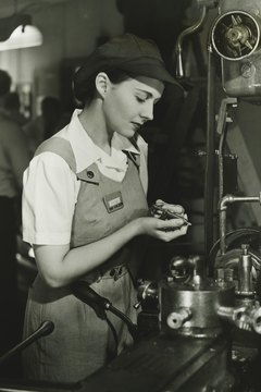 Factory work was a liberating experience for many women during World War II.