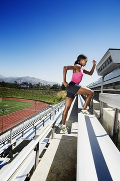 Take your workout outside by running bleachers.