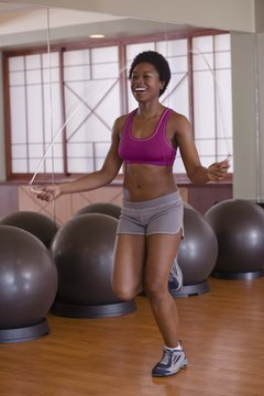 Jumping rope burns lots of calories in a short amount of time.
