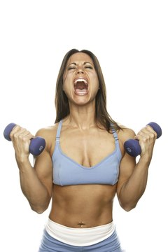 Get rid of underarm flab with a weight-training workout.