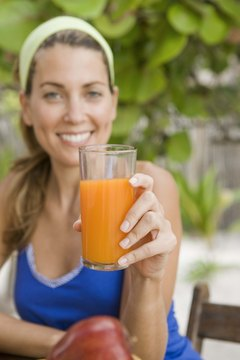 Carrot juice is packed with potassium.