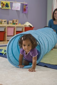 Creative play equipment is a must at a new childcare facility.