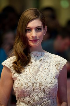 Anne Hathaway channels silky siren waves.