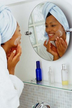 Always wash away makeup before going to bed to keep skin clear.