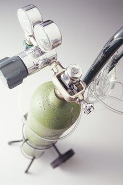 Oxygen tank, elevated view