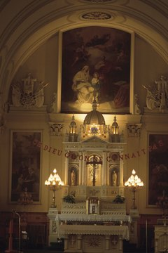 Catholic churches tend to be much more ornate than Protestant churches.