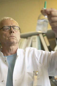 Forensic biologists analyze body fluid and DNA in the investigation of crimes.