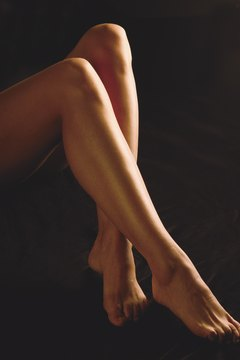 Stretching calf muscles can change their appearance.