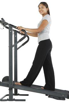 Raise the incline to build calf muscles on the treadmill.